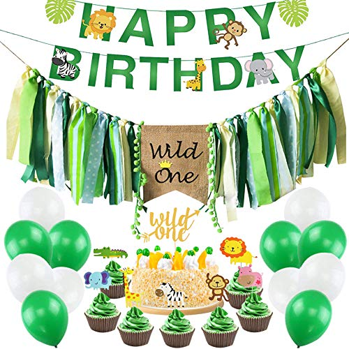 Save %12 Now! Wild One Birthday Decorations Kit, Wild One Kids First Birthday Party Decorations Supp...
