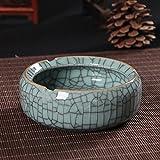 El cenicero Creativo y Elegante cenicero de Cristal Grande con Tapa Dormitorio salón de cerámica Personalizada Cilindro Fumar