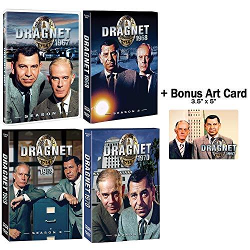 Dragnet: Complete 1960s Series Seasons 1-4 DVD Collection + Bonus Glossy Art Print