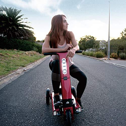 LIYIN 3-Fach zusammenklappbarer Elektromobil für ältere und behinderte Menschen, tragbare kompakte Elektroroller, Unterstützung 120 kg Gewicht, 109 × 55 × 89 cm