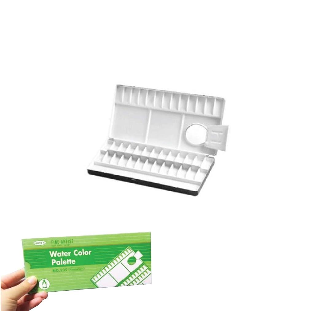 HEUNG IL Aluminum Water Color Portable Palette 39Compartments Pocket Size No.239
