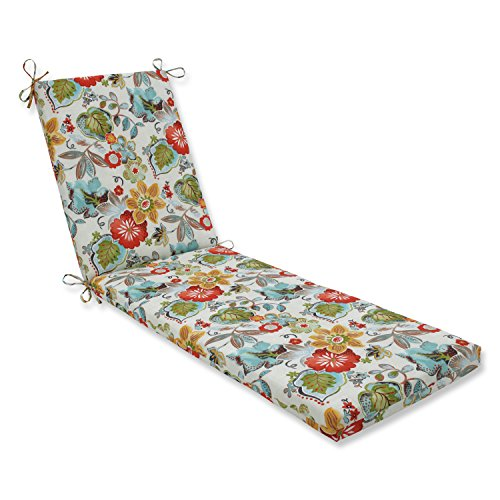 Pillow Perfect Outdoor/Indoor Alatriste Ivory Chaise Lounge Cushion, 80 in. L X 23 in. W X 3 in. D, Floral