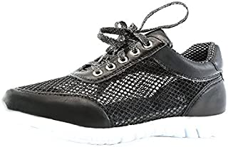 Nature Breeze Women's Mesh up Lightweight Fashion Comfortable Almond Toe Sneaker