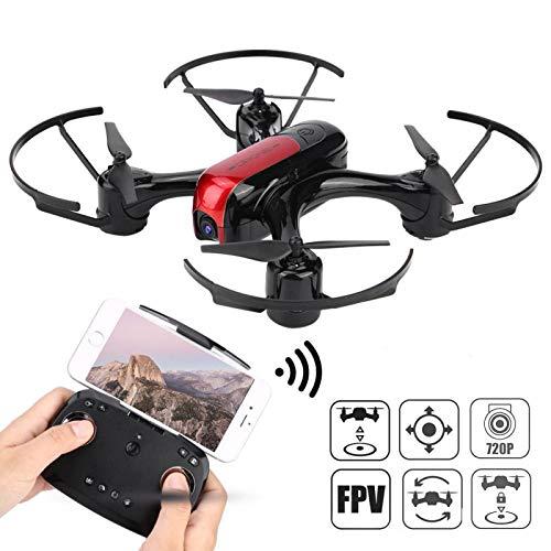 DAUERHAFT Cámara HD Drone Outdoor Drone Toy Festival Educativo para Padres e Hijos Regalos de cumpleaños(Red)