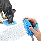 Aquapaw Pro Dog Bathing Tool and Slow Treater XL Combo - Lick Mat Suctions to the Wall or Floor for Anxiety-Free Pet Grooming - The Sprayer and Scrubber Works with Indoor Shower or Outdoor Garden Hose