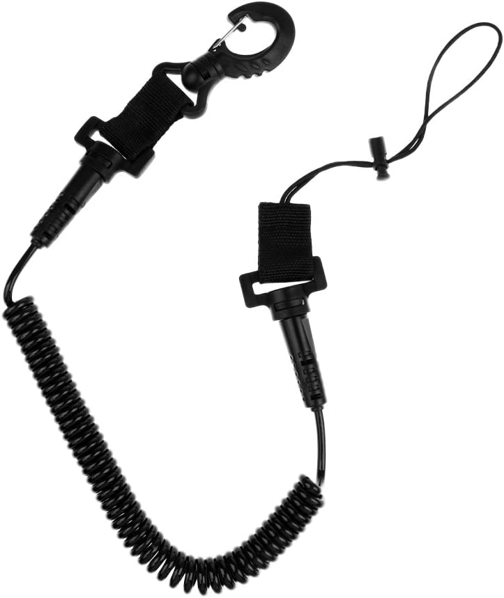 yotijar Coiled Elastic Dive Cheap sale Camera Lanyard Light San Antonio Mall C Snap Swivel