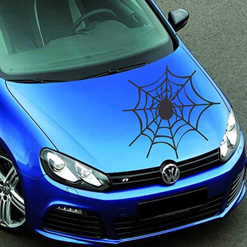 INDIGOS UG Aufkleber - Autoaufkleber Spinnennetz 60cm x 63cm schwarz - Tuning Carystyling Heckscheibe Auto