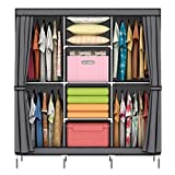 Best Portable Closets - OUMYJIA 69 inches Non-Woven Fabric Portable Closet Wardrobe Review