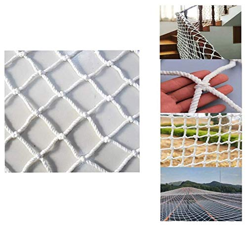 Child Stair Protection Net Veiligheidsnet diameter 6MM wit, Indoor kinderen trappen balkon anti-val net Outdoor raam plafond ophanging brug net Tuin hek net Klimnet Hangmat swing M