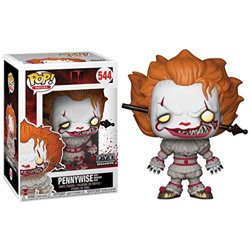 LRWTY Figura Pop!IT - Pennywise (Disparo en la Cabeza) Vinilo Figura de Horror de Serie Movie 10cm Gifts