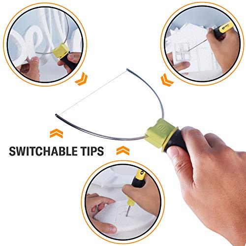 Foam Cutter- Hot Wire Foam Cutter- Hot Knife - Styrofoam Tool- Electric Heated Cutting Pen- 3 in 1 Kit- Cutting Machine