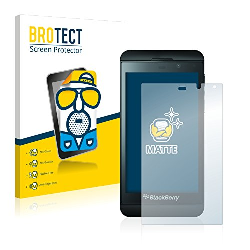 BROTECT 2X Entspiegelungs-Schutzfolie kompatibel mit BlackBerry Z10 Bildschirmschutz-Folie Matt, Anti-Reflex, Anti-Fingerprint