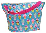 iscream 'Ice Cream Cones' Weekender 23.5' x 16' x 9' Travel Tote Bag with Adjustable Strap
