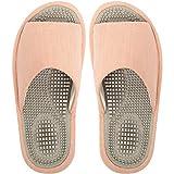 BIKINIV Reflexology & Acupressure Massage Slippers Sandals for Men & Women Home Shoes Shock Absorbing, Cushion Comfort & Arch Support for Better Health Heel (7.5-8 Women/6.5-7 Men, Pink)