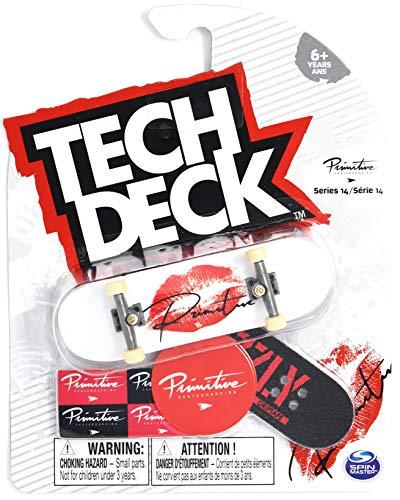 Tech-Deck Series 14 Primitive Skateboards Red Lipstick Kiss Ultra Rare Complete 96mm Fingerboard