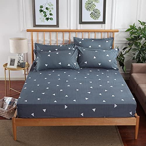 CYYyang Protector de colchón de Rizo algodón y Transpirable Paquete Completo de sábanas de un Solo producto-23_150x200 + 25cm