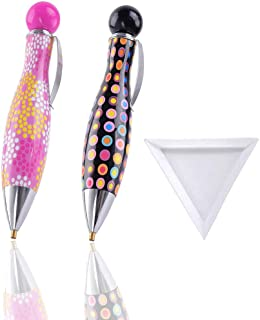 HomeCraftology 2pcs 5D Diamond Painting Drill Pen Tools, New Design Cute Drill Pens, Sticky Pens for Diamond Painting