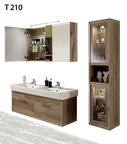 regalwelt Bad Serie timbery T210Alto Armadio, Armadio a Specchio, lavabo Armadio in SOE