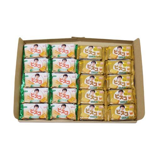 グリコ ビスコミニパック〈カフェオレ〉5枚(10コ)& ビスコミニパック〈小麦胚芽入り〉5枚(10コ) 計20コ セット