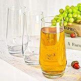 [6-Pack, 550ml/18.6oz] Design•Master-Hochwertige Highball-Gläser, Schweres Basis Hochbarglas, Trinkgläser für Wasser, Saft, Bier und Cocktail. - 4