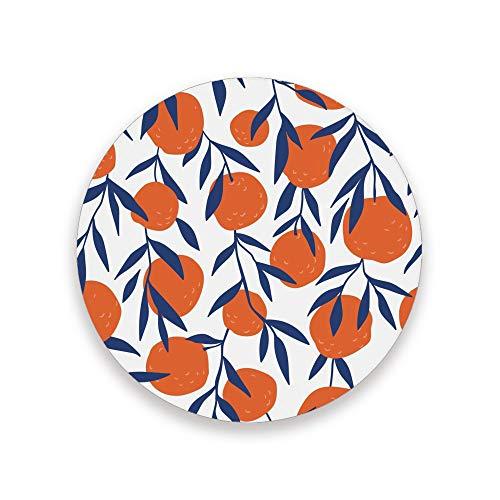 CHEHONG - Posavasos absorbentes de cerámica con base de corcho de color naranja para decorar el hogar, oficina, tazas de cristal, mesa de comedor, juego de 1, 2, 4, Cerámica + base de corcho., Color, 2 unidades