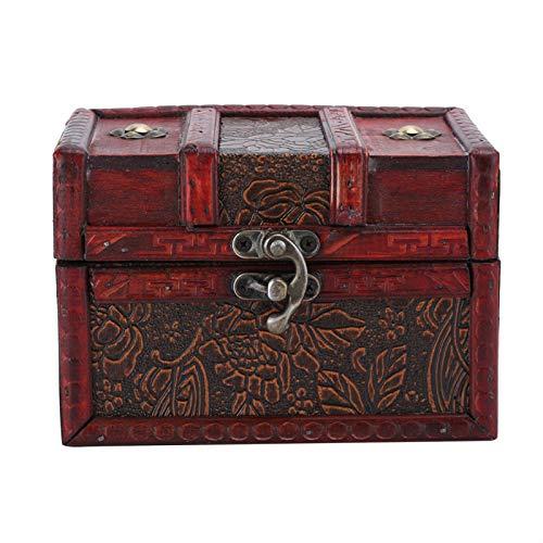 BHDD Caja de Almacenamiento de Madera Vintage, Cofre del Tesoro de Madera...