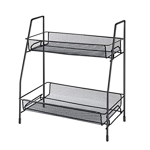 OIHODFHB Rack de almacenamiento Caja de almacenamiento en encimera de cocina, fácil de mover la caja de almacenamiento de la cocina Almacenamiento de alambres de almacenamiento Verduras, Jam Jars, Cos