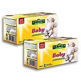 Vedda, Té para Bebé, Té de Hinojo para Bebés, Infusiones para Niños, Té para Estimular la Leche Materna, Té del Estómago del Bebé, (Paquete de 2, total 40 bolsitas de té)