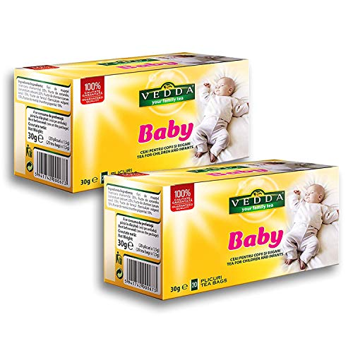 Thé pour Bébé | Tisane Allaitement (40 Tasses) | Tisane de Fenouil | Tisane pour Bébé, Nourrissons et Enfants | Fenouil, Camomille | 40 Sachets de Thé, Total 80g