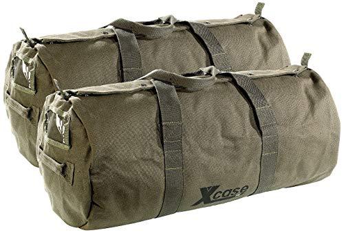 Xcase Handgepäck: 2er-Set Canvas-Sport- und Reisetaschen mit Tragegriff, je 70 Liter (Reise-Taschen)
