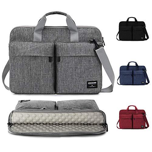 KINGSLONG Laptoptasche 15-15.6 Zoll Laptop-Schultertaschen Aktentaschen Schutzhülle Business Leichtgewicht Messenger Bags Herren und Damen