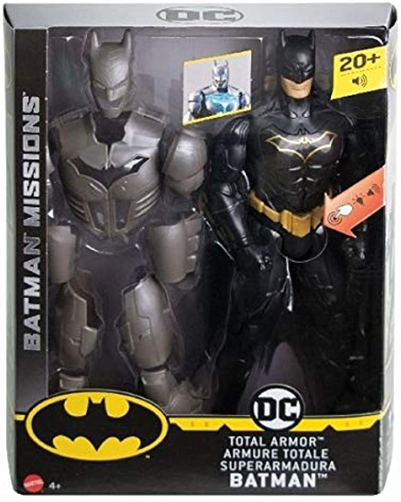 Mattel ,batman con luci e suoni,30 cm