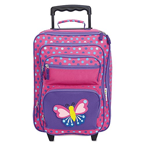 """Personalized Rolling Luggage for Kids – 3-D Butterfly Design, 5"""" x 12' x 20'H, By Lillian Vernon"""