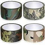 4 Rouleaux Bande de Camouflage Ruban de Protection de Camouflage Auto-Adhésif Bande de...