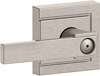 Schlage F40 NBK 619 ULD Northbrook Lever with Upland Trim Bed and Bath Lock, Satin Nickel