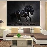 Sadhaf pentium horse imprimir en blanco y negro lienzo pintura sala de estar estatuas lienzo impresión pintura decoración del hogar A3 50x70cm
