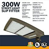 300W LED Street Light with Photocell Shorting Cap, Parking Lot Lighting, 42000 Lumens, 5700K Daylight White, IP65 Waterproof - UL, DLC Certified, 5 Year Warranty