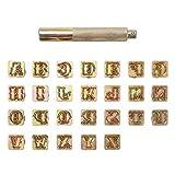 Mogokoyo 26 PCS A-Z Alphabet Buchstaben Metall Stempel-Set Stamping Punch Leder Werkzeuge für DIY...