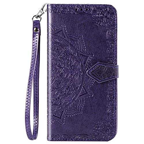 JiuRui-504 kuaijiexiaopu Fundas para LG Q70 K50S K50 Q60 K40S K40, Cubierta de teléfono de protección de Cuero para LG K30 K20 2019 (Color : Purple, Material : For LG K40S)