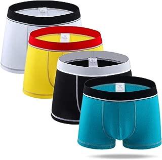 XXJIN Underpants for men-4pcs Underpants Men's Cotton Boxers Underwear Boxer Shorts