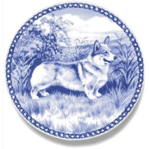 Welsh Corgi Pembroke - Dog Plate made in Denmark from the finest European Porcelain. Premium Quality and Design from Lekven. Perfect Gift For all Dog Lovers. Size - 7.61 inches.