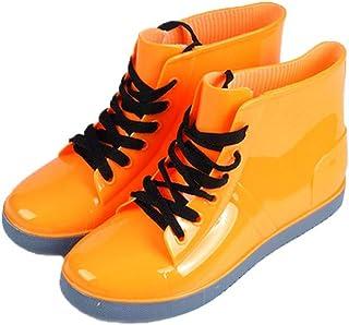 MEIGUIshop Rain Boots - Fashion Non-Slip Student lace Short Boots Boots