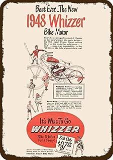 Yilooom 1948 Whizzer Motor Bike Bicycle Vintage Look Metal Sign 7