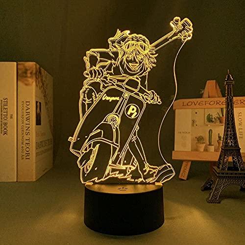 JYDNBGLS Niñas luz de noche para niñas niños Anime Figura lámpara Haruko Haruhara FLCL para decoración de la habitación Mesa Mesita de noche Manga FLCL USB Color Cambio Iluminación