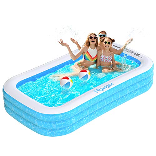 Hyvigor Piscina Hinchable Rectangular, Piscina Inflable Fami