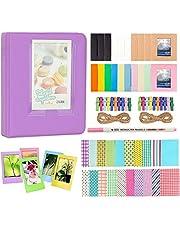Anter Photo Album Accesorios para Fujifilm Instax Mini Camera, HP Sprocket, Polaroid Zip, Snap, Snap Touch Impresora Films con Film Stickers, Album & Frame (64 Pocket, Púrpura)