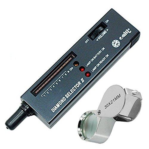 NuoYa005 LED-Uhrmacherlupe Diamant Diamond Prüfgerät Tester Werkzeug, tragbar, 60 x Vergrößerung, beleuchtet