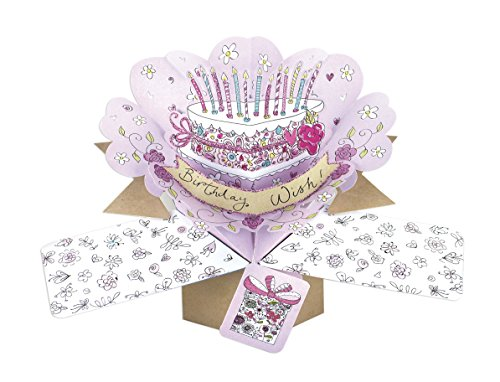 Second Nature Pop Ups Birthday Cake Birthday Card