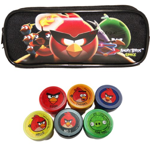 Black - Rovio Angry Bird Pencil Pouch Case, Back to School