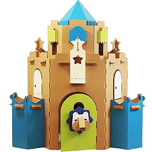 ZQYB Playhouse Princess Castle Play House Kit Große Mittelalterliche Fort DIY Graffiti-Karton-Zelt Wendy Haus for Kinder Indoor Kenntliches Lernspielzeug Bauen